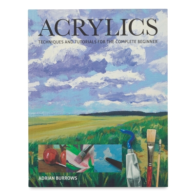 """<cite>Acrylics: Techniques and Tutorials for the Complete Beginner</cite>, gives aspiring acrylic artists the fundamentals of painting with acrylics in a helpful and accessible manner. Includes 10 tutorials and special features. Adrian Burrows. Paperback. 96 pages. 8-1/2"""""""" x 11""""""""."""