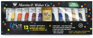 Weber Woil Water Mixable Artist Oil Colors Sets Image 1273