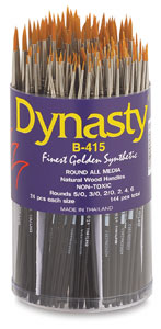 Dynasty Finest Golden Synthetic Round Brushes