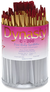 Dynasty Fine Ruby Synthetic Brushes Image 1047