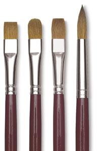 Da Vinci Kolinsky Sable Oil Brushes