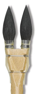 Luco Double Squirrel Round Brushes