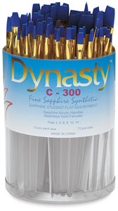Dynasty Fine Sapphire Synthetic Flat Brush Set Image 1049