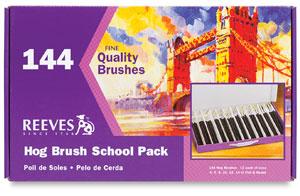 Reeves Hog Bristle Brush School Pack Photo