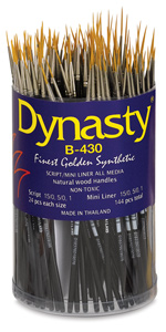 Dynasty Finest Golden Synthetic Brushes Image 4180