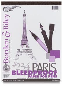 Borden & Riley Paris Bleedproof Paper For Pens