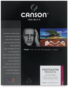 Canson Infinity Photosatin Premium Resin Coated Art Paper Photo