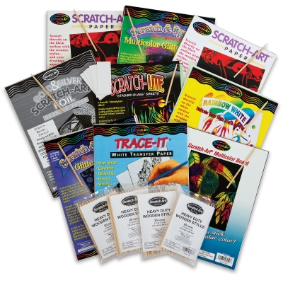 Scratch Art Variety Classroom Pack Image 1134