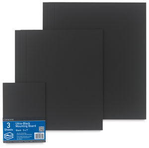 Crescent Ultra Black Mounting Boards Image 1379