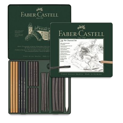 Faber Castell Pitt Charcoal Tin Image 2338