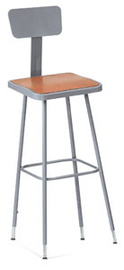 National Public Seating Corp Square Stool Image 2532