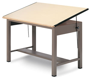 Mayline Ranger Steel Four Post Drawing Tables Image 123