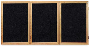 Ghent Enclosed Recycled Rubber Tackboards Photo