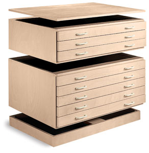 Smi Unfinished Natural Birch Stackable Files Photo