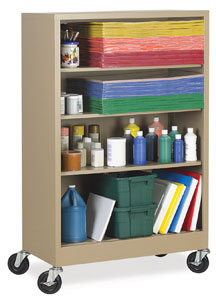 Atlantic Metal Mobile Bookcase Picture 612