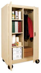 Sandusky Lee Mobile Combination Storage Cabinets Photo