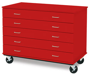 Isystems Five Drawer Paper Storage Cabinets Photo