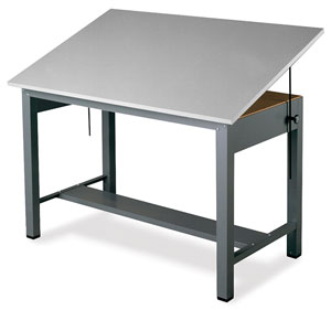 Mayline Economy Ranger Steel Four Post Drawing Tables Photo