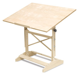 Wood Drafting Table Photo