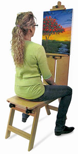 Martin Universal Design Wood Mobile Bench Easel Photo