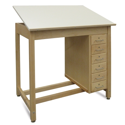 Hann Si Drawer Wood Drawing Table Photo