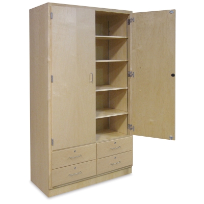 Hann Tall Storage Cabinet Drawers Photo