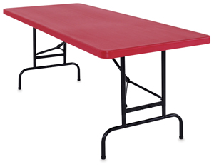 National Public Seating Corp Adjustable Height Folding Table Image 2532