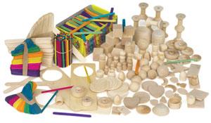 Hygloss Wood Treasure Box Picture 10219