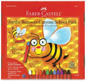 Faber Castell Jumbo Beeswa Crayon Sets