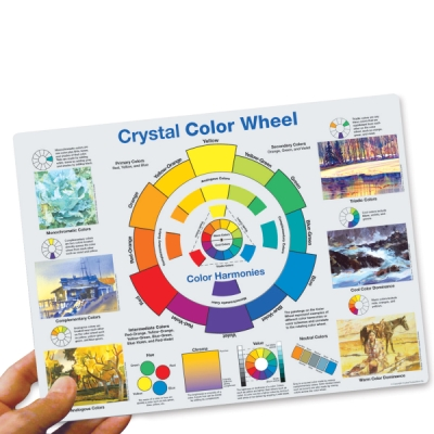 Crystal Productions Color Wheel Desk Reference Photo